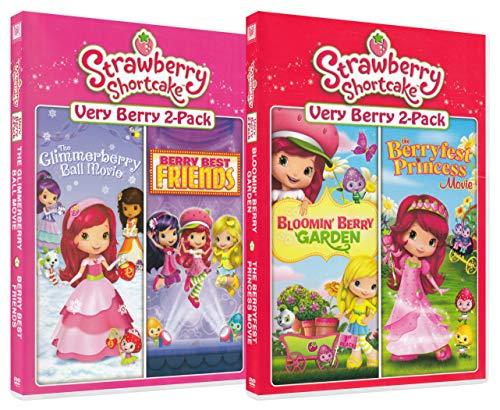 Strawberry Shortcake Pack 2 (The Glimmerberry Ball Movie / Berry Best Friends / Bloomin Berry Garden / The Berryfest Princess Movie) -