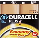 Duracell Plus - MN1604-X4-AM - Piles 9V - Pack de 4