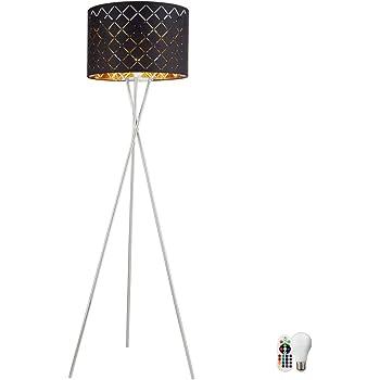 RGB LED Steh Lampe Kristall Textil Leuchte Fernbedienung Decken Fluter DIMMBAR
