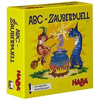 Haba 4912 - ABC Zauberduell, Lernspiel ab 6 Jahren zum Buchstabenlernen, perfektes Geschenk für Schulanfänger zur Einschulung, Reise- und Mitbringspiel