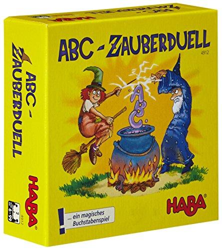 Haba 4912 - ABC Zauberduell, Lernspiel ab 6 Jahren zum Buchstabenlernen, perfektes Geschenk für Schulanfänger zur Einschulung, Reise- und Mitbringspiel (Welche Worte)
