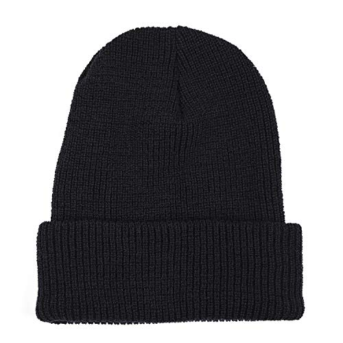 Wigwam Men\'s 1015 Wool Ribbed Watch Cap, Black, One Size