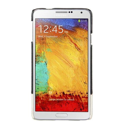 Line-snap (Melkco Mix and Match Line Leder Snap Cover für Samsung Galaxy Note 3 GT-N9000 schwarz/weiß)