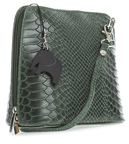 Big Handbag Shop , Sac bandoulière pour femme taille unique Snake - Pine Green