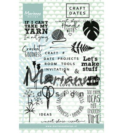 Marianne Design Craft Daten 1 CLEAR STAMP SET, Kunststoff, 18,3 x 11,9 x 0,4 cm