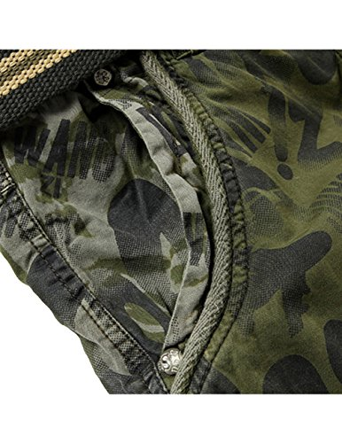 Menschwear Herren Vintage Cargo Shorts Bermuda Kurze Hose Sommer Kurze Hose camouflage 7