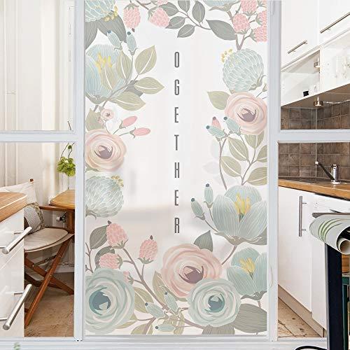 lsaiyy Romantic Rose Glass Sticker Fensterglas Dekorativer durchscheinender Aufkleber - 58cmx90cm -