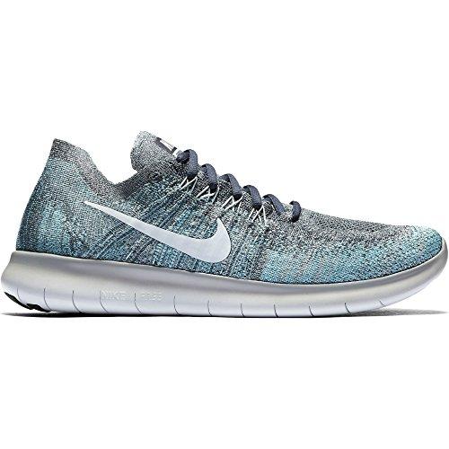 Nike Herren Free Run Flyknit 2017 Trainingsschuhe, Herren, 880843-407, Blue Fox/Pure Platinum-wolf Grey-white, 13 uk