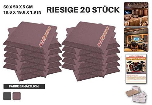 ace-punch-20-stucke-burgund-flache-bbgeschragt-akustikschaumstoff-dammung-mit-freien-befestigungslas