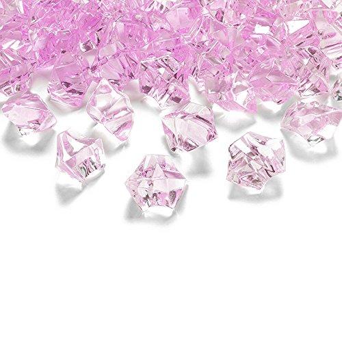 50 Kristall-Steine Rosa 25 mm – Eis Deko Streudeko Diamanten Tischdeko