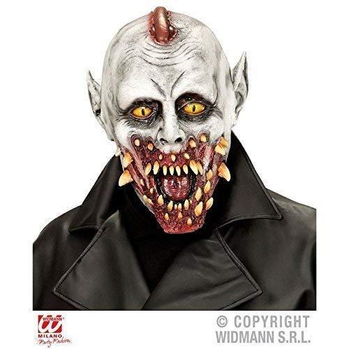 Lively Moments Übergroße Zombie Vampir Maske mit vielen Reißzähnen / Vollmaske / Halloween / Kostümzubehör