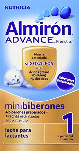 Almirón Advance Leche en polvo, 1 minibiberon desde 0 meses - Paquete de 4 x 70 ml