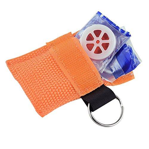 Minkoll CPR Gesichtsmaske, Gesichtsmaske CPR One-Way-Ventil für Erste-Hilfe-Training (Orange) (Cpr-maske Ein Ventil)