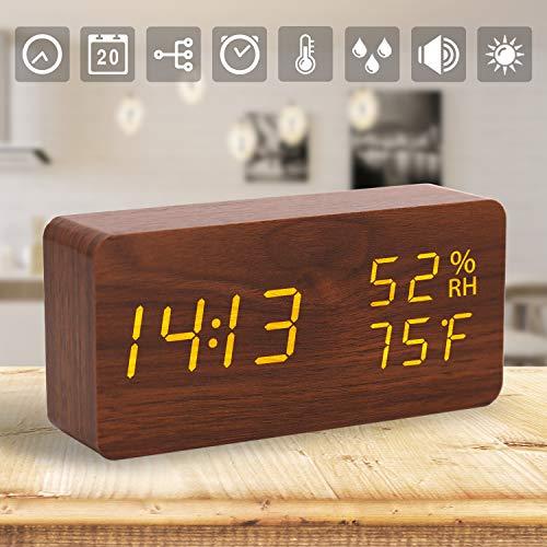 Outstanding Pendules Et Horloges Lakote Modern Wooden Wood Digital Led Download Free Architecture Designs Rallybritishbridgeorg