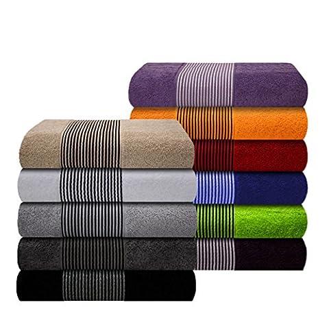 Liness Stripes Handtücher grau Handtuch 50x100 cm 100% Baumwolle weiche Frottee Qualität Handtuch grau Bordüre