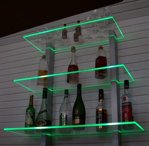 Design Bar Regal LED ideal Flaschen und Gläser RGB Version (mehrfarbig)
