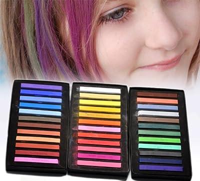 Housweety 1 Caja (36 Unidades) Tizas para dar colores a tu pelo temporales moda 59x8x8mm de Housweety