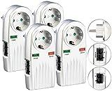 revolt Blitzschutz-Steckdose: 4er-Set 6in1-Überspannungsschutz für TV, HiFi, LAN & Telefon (Überspannungsschutz-Netzfilter) Vergleich
