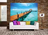 XXL Poster Steg ins Paradies Strand Meer Stairway Design by GREAT ART 140 cm x 100 cm - 9