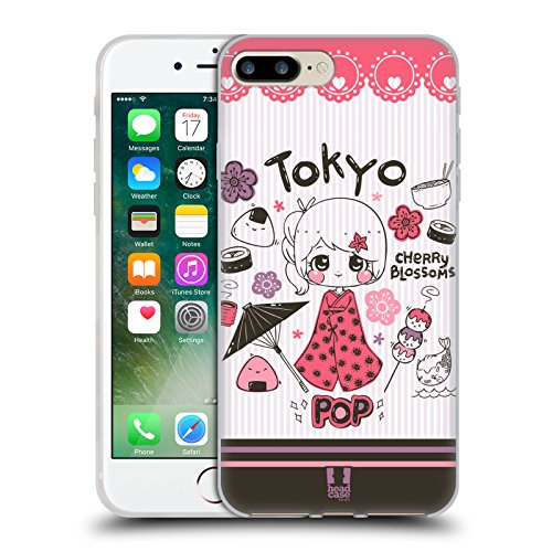 Head Case Designs Highcross Stampa A Croce Cover Morbida In Gel Per Apple iPhone 7 / iPhone 8 Tokyo