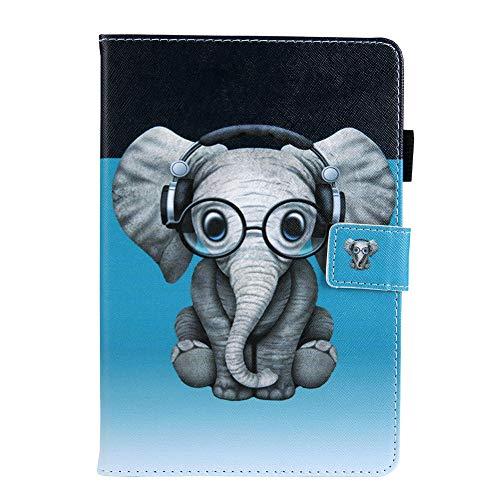 Coopay kompatibel mit iPad Mini 5 2019 7,9 Zoll Smart Leder Schutzhülle,Flip Leicht Lederhülle,Slim Ledertasche,Tier Super Süß Elefant Muster Hülle,Standfunktion Case Cover Tasche Weich Bumper Hüllen Super-smart-elektronik