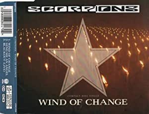 WIND OF CHANGE CD UK SWIRL VERTIGO 1991 3 TRACK WITH MISPPRINTED TRACK LIST B/W SEND ME AN ANGEL AND BLACKOUT LIVE (VERCD58)