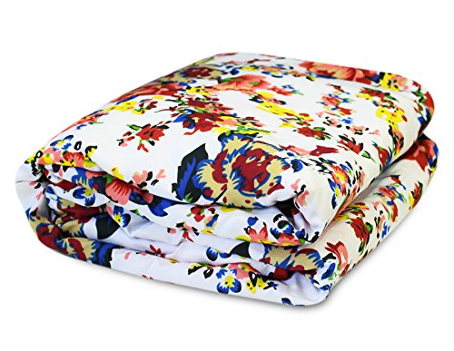 Story@Home Feather Touch Floral Microfibre Single Quilt - Blue