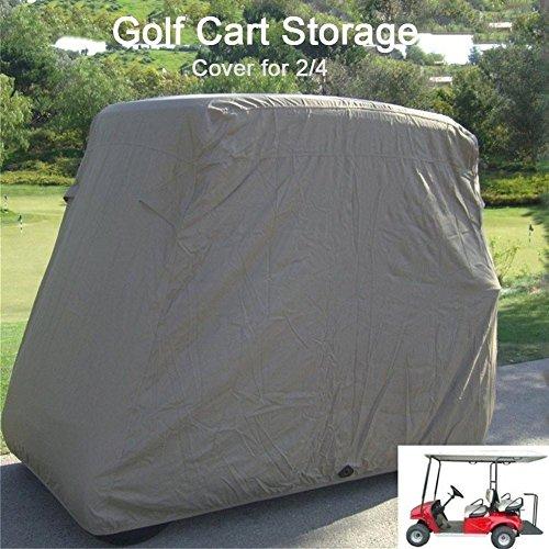 Wasserdicht Staub Prävention Golf Cart Cover passt EZ Go Club Auto Yamaha Golf Carts,Abdeckung für Yamaha fuel golf cart Cover passt club Erfüllen Sie alle Standards von EZ GO (Golf Covers Car Club Cart)