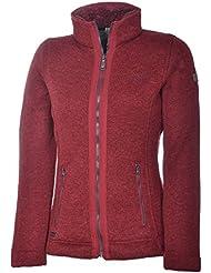 Regatta Ranita Forro Polar con Capucha para Mujer Chaqueta de punto chaqueta de forro polar, rojo