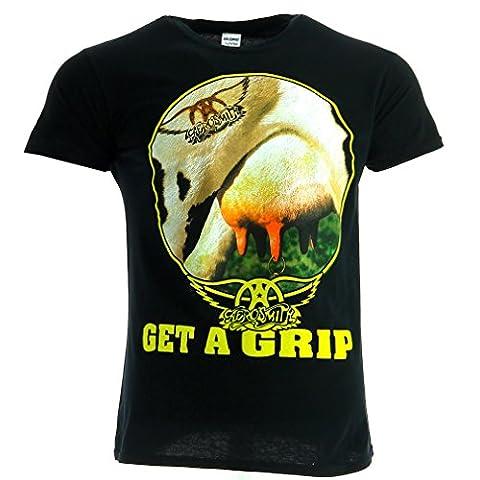 Aerosmith Get A Grip noir T-shirt officiel Autorisé
