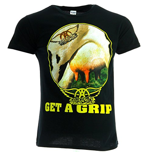Aerosmith Get A Grip Black T-shirt Official Licensed Music