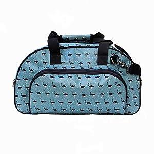 IKURI Weekender - Wasserdichte Tasche Für Frauen Sporttasche Schwimmtasche Umhängetasche für Fitness, Sauna und Wellness Kliniktasche Reisetasche aus Plane Retrolook - Design Avestruz
