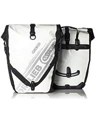 Ortlieb Gepäckträgertasche Back-Roller B`N W Paar, weiß-schwarz, 42 x 32 x 17 cm, 40 Liter, F5101