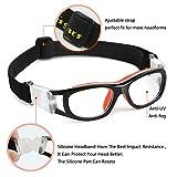 Pellor Sportbrille, Erwachsene Kinder Brille Running Brille Arbeitsschutz verstellbar für Sonnenbrille Fußball Fotografie von Basketball Tennis (Kinder Sportbrille) Test