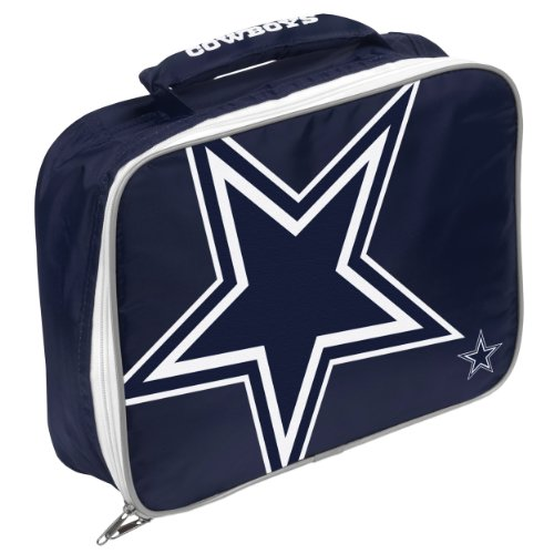 NFL Unisex Lunchtasche mit großem Logo, Unisex, NFL Big Logo Flat Lunch Bag, Team Color, Einheitsgröße