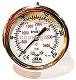 jra de Longlife glyzerin Manómetro 0-250BAR ng63Conector trasera G1/4'