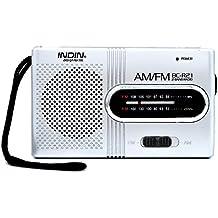 Radio AM / FM portátil altavoz de radio con antena telescópica mini receptor de radio, alimentado por 2 pilas AA ( no incluido ).