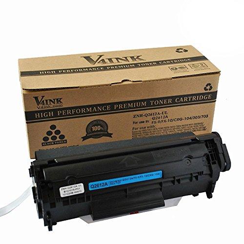 v4ink & # 174; compatible tóner sustituir a HP Q2612A 12A para HP Laserjet 1010101210151018102010223010301530203030305030523055M1005Impresora, color 1 PK Schwarz