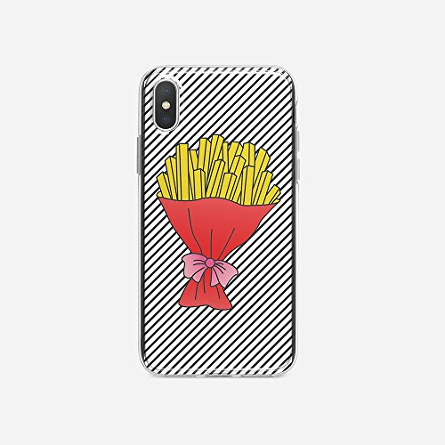 licaso Apple iPhone X Handyhülle Smartphone Apple Case aus TPU mit Pommes Frites Fritten Strauß...