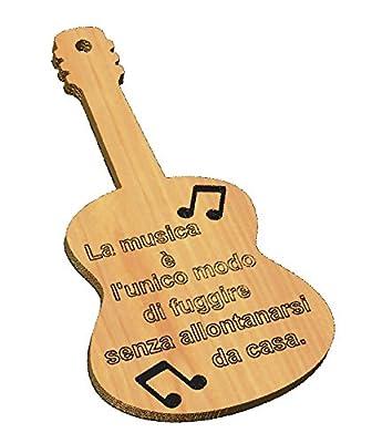 Compra TAGLIERE decorativo CHITARRA frase personalizzabile Musica ...