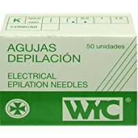 Aguja depilación Wyc curvada 1 - caja 25 bolsas de 2 unidades