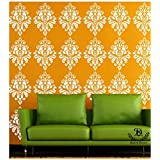 Kayra Decor Reusable Plastic Wall Stencil Stickers (16 x 24-inches)