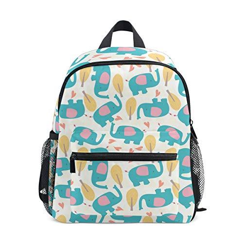 FAJRO- Mochila Escolar para niñas con diseño de Elefantes