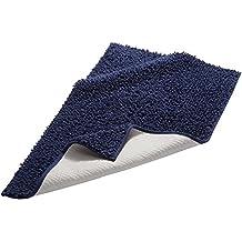 Pinzon by Amazon - Tappetino da bagno, in cotone lussuoso con lavorazione a riccio, blu scuro, 53 x 86 cm