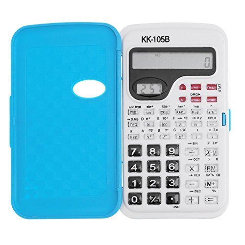 YouN tragbare Mini-Handheld-2-Linie-Display Student Scientific Calculator (blau) (Calculator Basic)