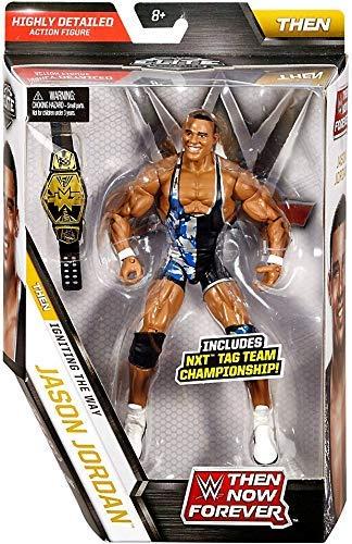 WWE Mattel - FBJ31 Then Now Forever - Jason Jordan - Bewegliche Deluxe Actionfigur + Zubehör
