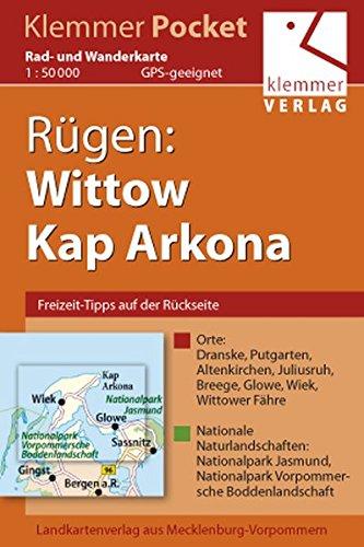 Klemmer-Pocket, Rad- und Wanderkarte Rügen: Wittow, Kap Arkona: GPS geeignet, Erlebnis-Tipps auf der Rückseite. 1:50000