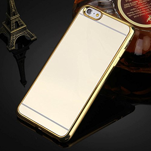 Phone case & Hülle Für iPhone 6 / 6s, Galvanisierungsspiegel TPU Schutzhülle ( Color : Silver ) Gold