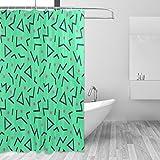COOSUN Stil Muster Drucken Duschvorhang, Polyester-Gewebe Duschvorhang, 66 x 72-inch 66x72 Mehrfarbig
