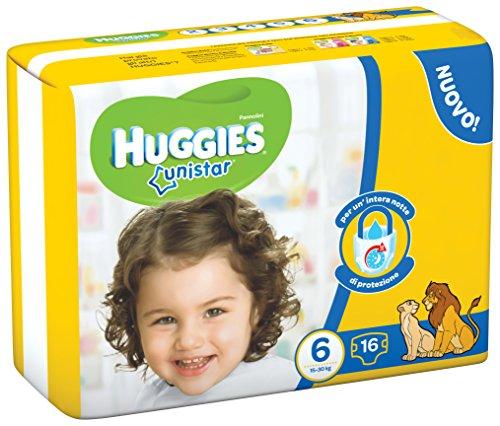 Huggies Unistar, talla 6(15–30kg), 16Pañales